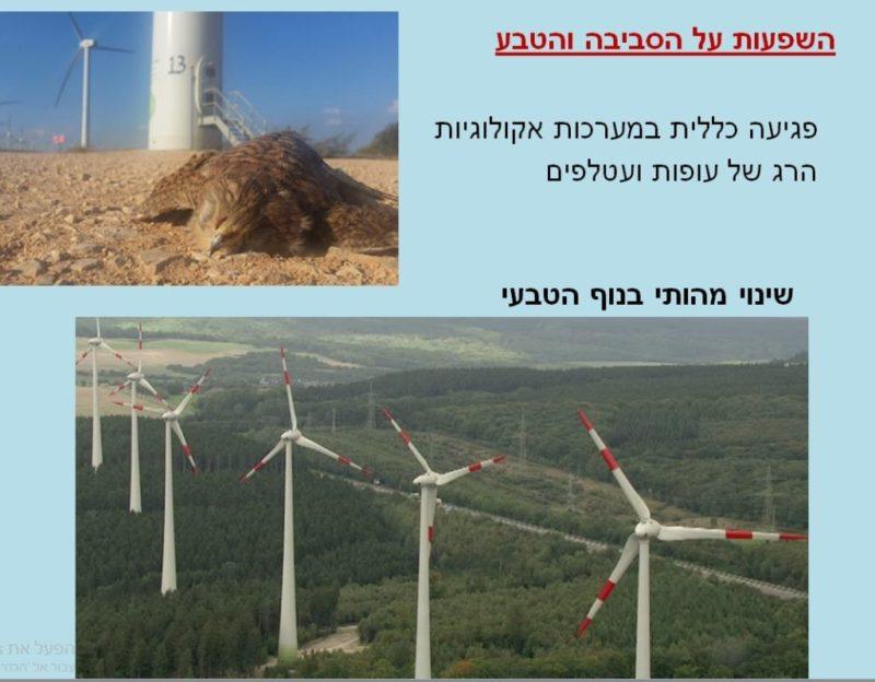 כפרניק turbi6 חזית אזורית נגד טורבינות הרוח