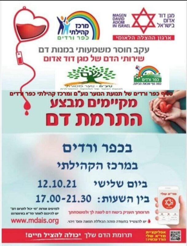 כפרניק WhatsApp-Image-2021-10-10-at-15.23.33-scaled התרמת דם: במרכז קהילתי כפר ורדים